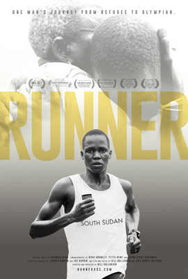 Runner web poster yellow text small